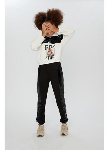 Little Star Little Star Kız Çocuk Kapşonlu Sweatshirt Krem